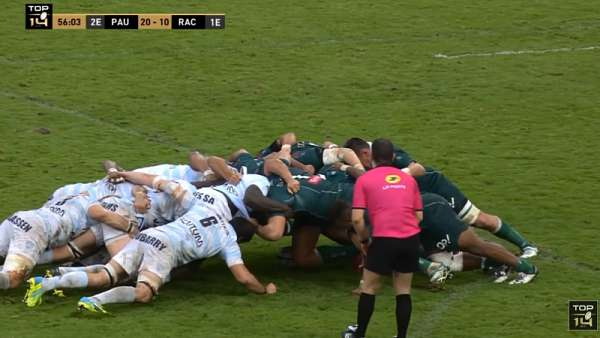 El interminable scrum entre Pau y Racing 92