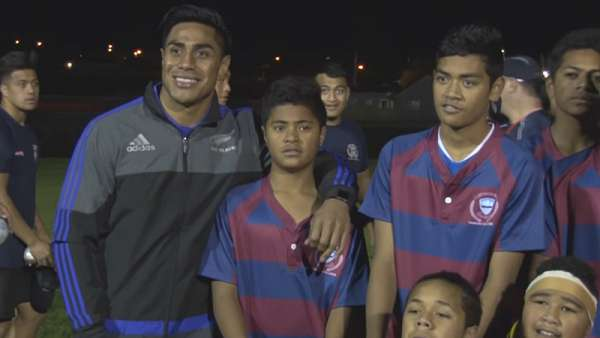 Clínica de los All Blacks en el Tamaki College