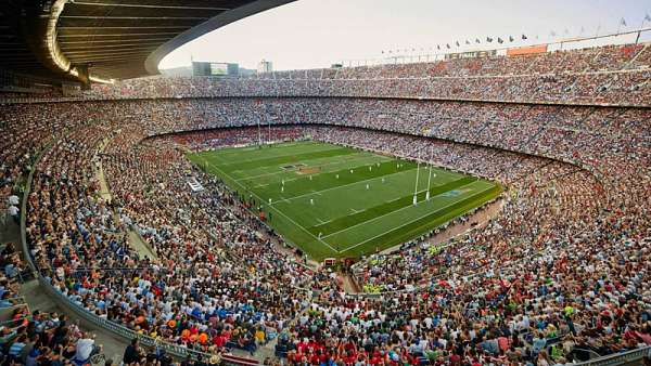 El clima del Camp Nou en la final del Top 14