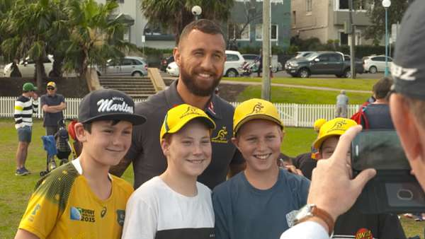 Los Wallabies y su gente disfrutaron del Fan Day